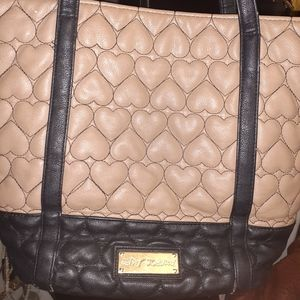Betsy Johnson Quilted Leather Handbag